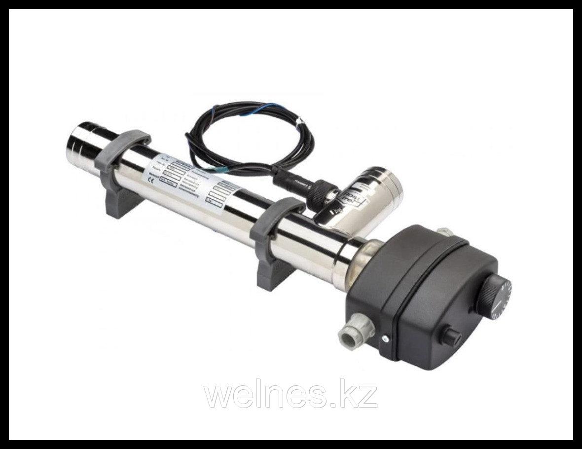 Электронагреватель для бассейна Max Dapra ЭВО D-EWT-EV с переключателем потока, нержавеющая сталь (12,0 кВт)