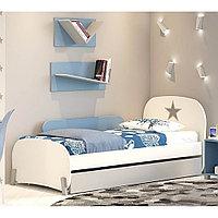 Кровать детская Polini kids Mirum 1915 c ящиком белый