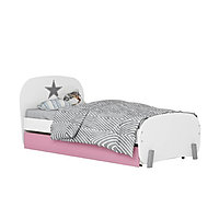 Кровать детская Polini kids Mirum 1915 c ящиком белый/розовый