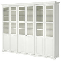 ЛИАТОРП Комбинация для хранения с дверцами, белый, 276x214 см, фото 1