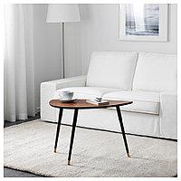 ЛЁВБАККЕН Придиванный столик, классический коричневый, 77x39 см, фото 1