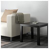 ЛАКК Придиванный столик, черный, 55x55 см, фото 1