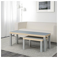 ЛАКК Комплект столов, 2 шт, серый, фото 1