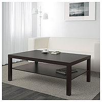 ЛАКК Журнальный стол, черно-коричневый, 118x78 см