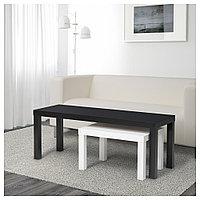 ЛАКК Комплект столов, 2 шт, черный, белый, фото 1