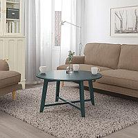 КРАГСТА Журнальный стол, темный сине-зеленый, 90 см, фото 1