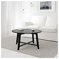 КРАГСТА Журнальный стол, черный, 90 см, фото 1