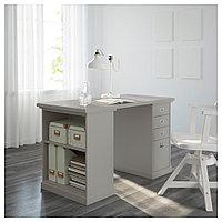 КЛИМПЕН Опора-модуль для хранения, серый светло-серый, 58x70 см, фото 1