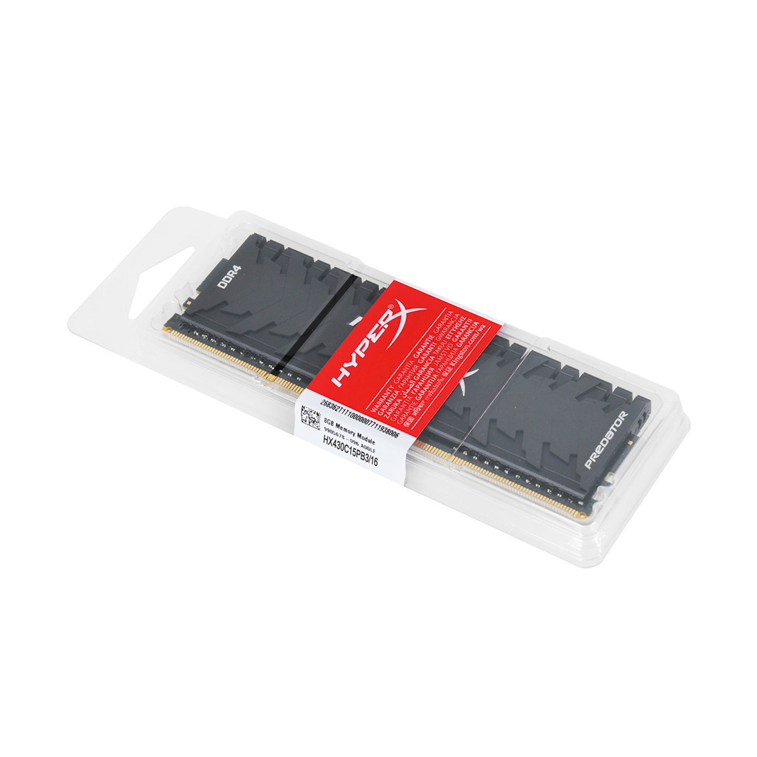 Модуль памяти Kingston HyperX Predator HX430C15PB3/16 DDR4 DIMM 16Gb 3000 MHz CL15