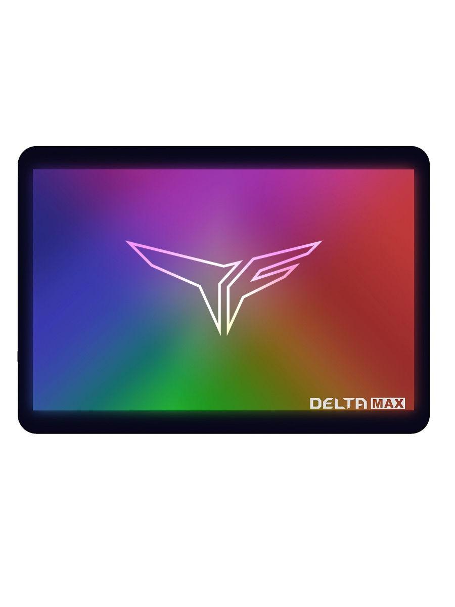 """Накопитель SSD 2.5""""SATA III TEAM T-FORCE DELTA MAX RGB 1TB  BLACK T253TM001T3C302"""
