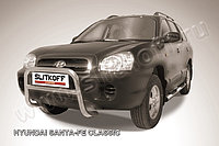 Кенгурятник низкий d57 Hyundai Santa Fe 2001-06