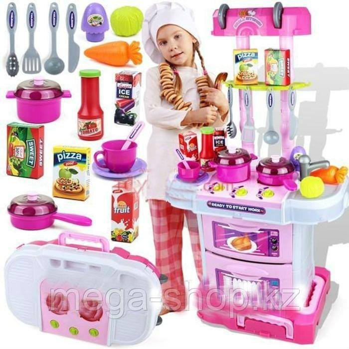 """Игровая кухня """"Little chef"""" 3 в 1 чемоданчик"""