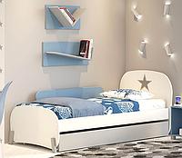 Детская подростковая кровать Polini kids Mirum 1915 c ящиком белый