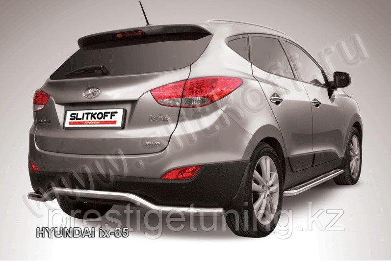 """Защита заднего бампера d57 """"волна"""" Hyundai IX-35"""
