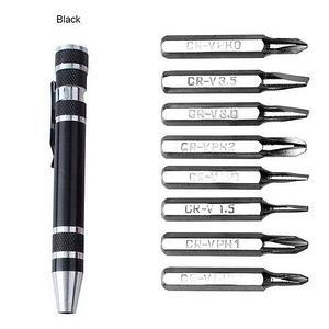 Мультитул-ручка с набором прецизионных отвёрток 8 в 1 (Черный)