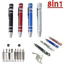 Мультитул-ручка с набором прецизионных отвёрток 8 в 1 (Красный), фото 2