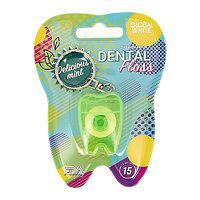 """Global White Зубная нить Dental Floss """"Delicious mint"""" 15 м"""