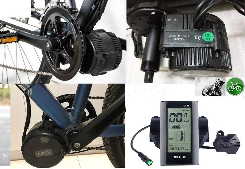 Эл. набор  Bafang 8FUN BBS02   48v 750w с дисплеем  LED  C965,  кареточный на велосипед.(68-72mm)  Без аккум.