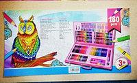 Набор для рисования 180 предметов в деревянном кейсе