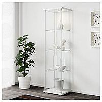 ДЕТОЛЬФ Шкаф-витрина, белый, 43x163 см, фото 1