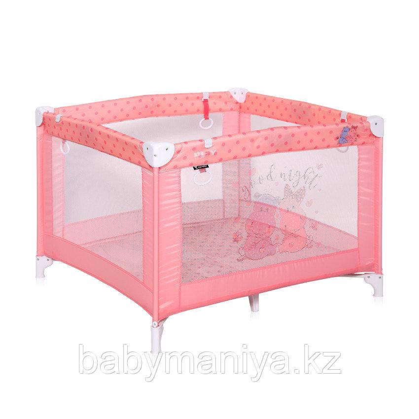 Детский игровой манеж Lorelli Play Розовый / Pink HIPPO 2028