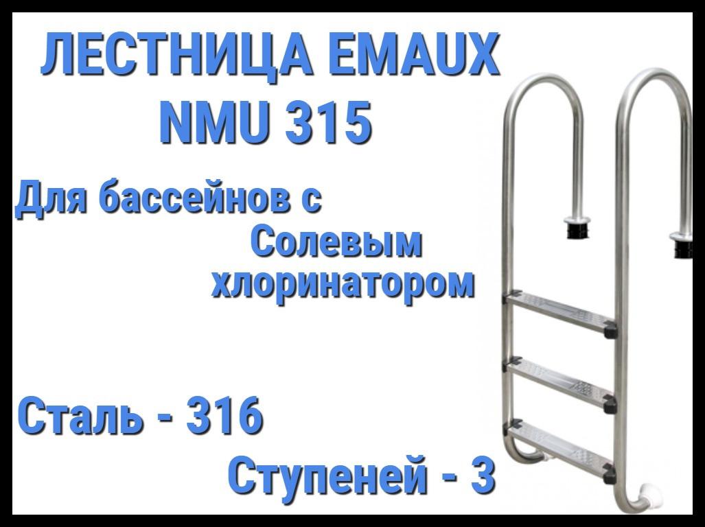 Лестница для бассейна с солевым хлоринатором Emaux NMU315 (3 ступени)