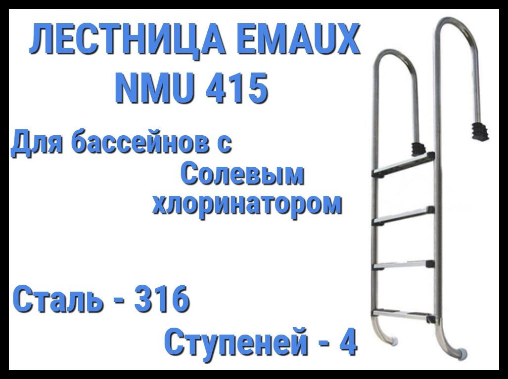 Лестница для бассейна с солевым хлоринатором Emaux NMU415 (4 ступени)