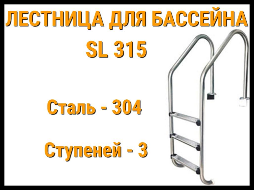 Лестница забортная для бассейна SL 315 (3 ступени)