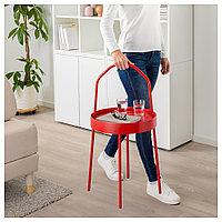 БУРВИК Придиванный столик, красный, 38 см, фото 1