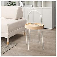 БУРВИК Придиванный столик, белый, 38 см, фото 1