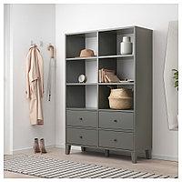 БРЮГГИА Модуль для хранения, темно-серый, 120x173 см, фото 1