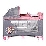 Манеж - кровать Lorelli MOONLIGHT 2 rocker Розовый / Pink TRAVELLING 2046, фото 2