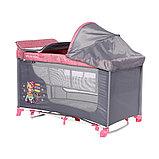 Манеж - кровать Lorelli MOONLIGHT 2 rocker Розовый / Pink TRAVELLING 2046, фото 3