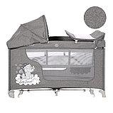 Манеж - кровать Lorelli MOONLIGHT 2rocker Серый / Grey CUTE MOON 2070, фото 2