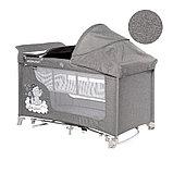 Манеж - кровать Lorelli MOONLIGHT 2rocker Серый / Grey CUTE MOON 2070, фото 3
