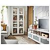 БРИМНЭС Шкаф-витрина, белый, 80x190 см
