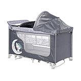 Манеж - кровать Lorelli MOONLIGHT 2rocker Серый / Grey Luxe 2068, фото 3