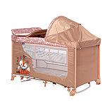 Манеж - кровать Lorelli MOONLIGHT 2 rocker Бежевый / Beige  Foxy 2042, фото 3