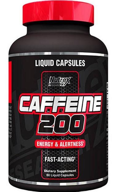Жиросжигатель CAFFEINE 200, 60 LIQUID CAPS.