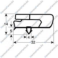 6045010131 Уплотнитель изоляционный профиль 9797 Ш 1435мм Д 615мм посадочный размер