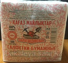 """Салфетки """"Карагандинские"""" Белые 100 штук"""