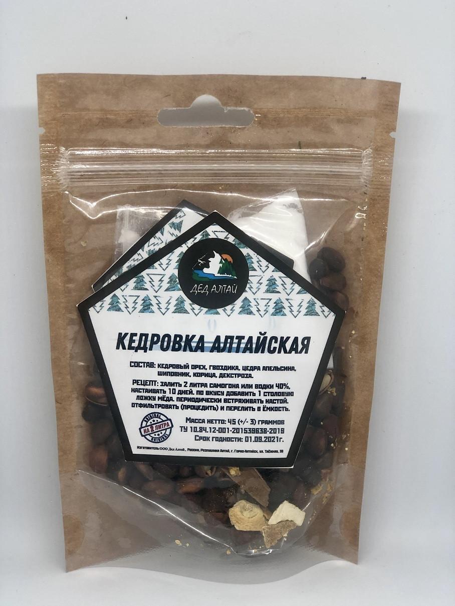 Набор для настойки Кедровка Алтайская– Дед Алтай