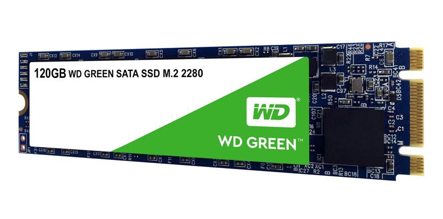 Твердотельный накопитель SSD 120 Gb M.2  6Gb/s WD Green WDS120G2G0B 3D TLC