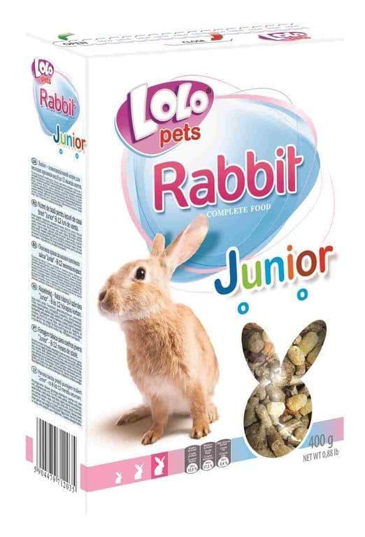 Полноценный корм LoLo Pets Junior Rabbit Food Complete для молодых кроликов - 400 г