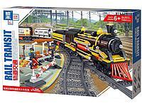 Конструктор аналог Лего LEGO City Электромеханический Zhe Gao Rail Transit QL0313 классический поезд 1464 дета