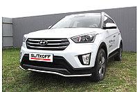 """Защита переднего бампера d42 """"Волна"""" Hyundai Creta"""