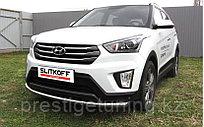 Защита переднего бампера d57 радиусная Hyundai Creta