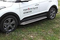 Защита порогов d42 с листом усиленная Hyundai Creta