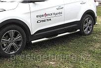 Защита порогов d76 с проступями Hyundai Creta