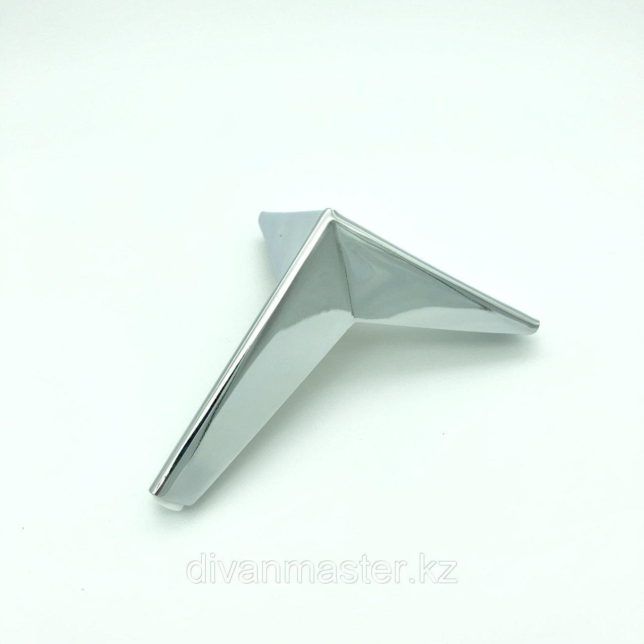 Ножка стальная с наклоном, для диванов и кресел, хром 17 см